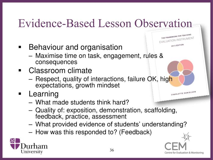 Evidence-Based Lesson Observation