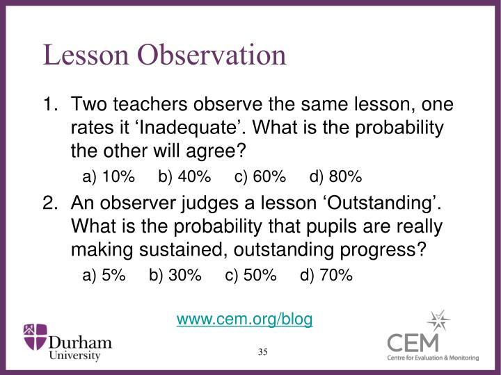 Lesson Observation