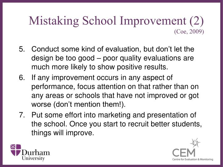 Mistaking School Improvement (2)