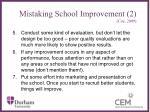 mistaking school improvement 2 coe 2009