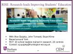 rise research leads improving students education