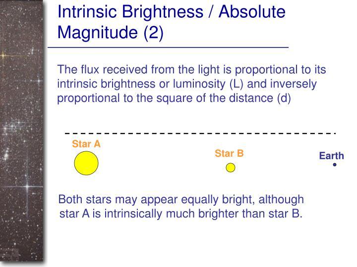 Intrinsic Brightness / Absolute Magnitude (2)