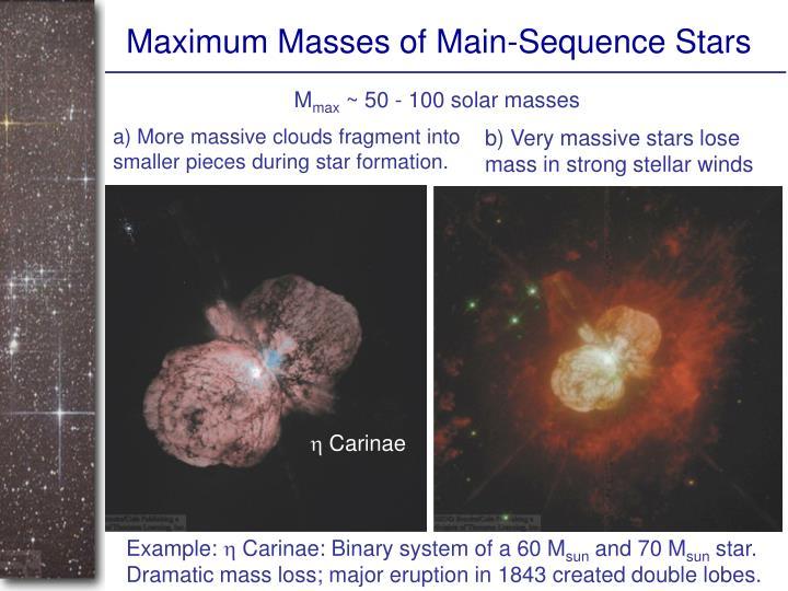 Maximum Masses of Main-Sequence Stars
