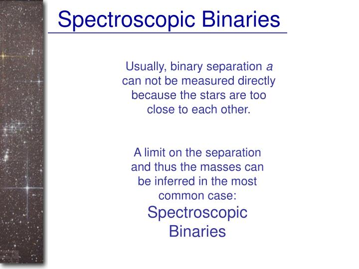 Spectroscopic Binaries
