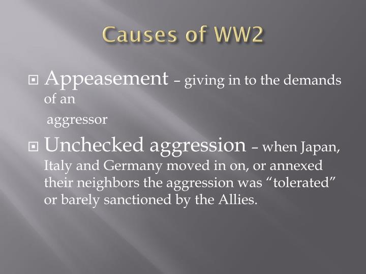 Causes of WW2