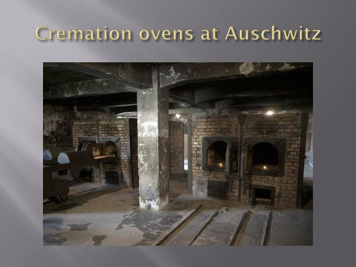 Cremation ovens at Auschwitz