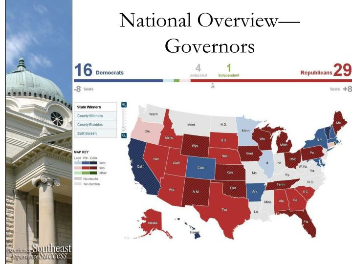 National Overview—Governors