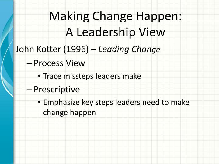Making Change Happen: