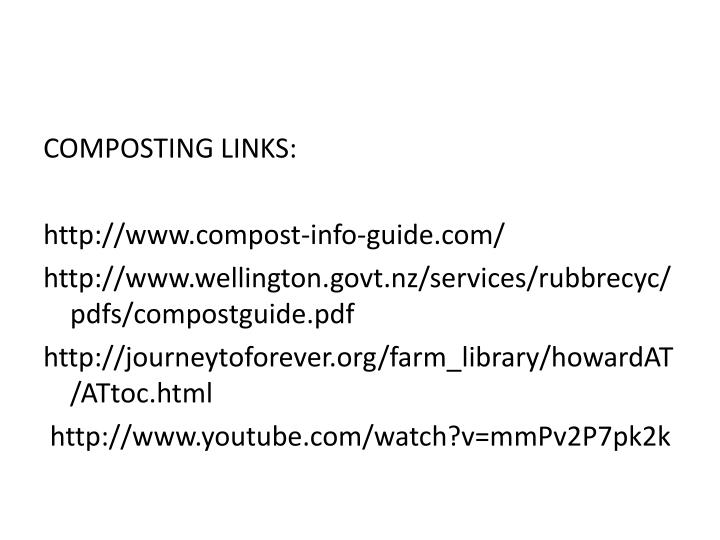 COMPOSTING LINKS: