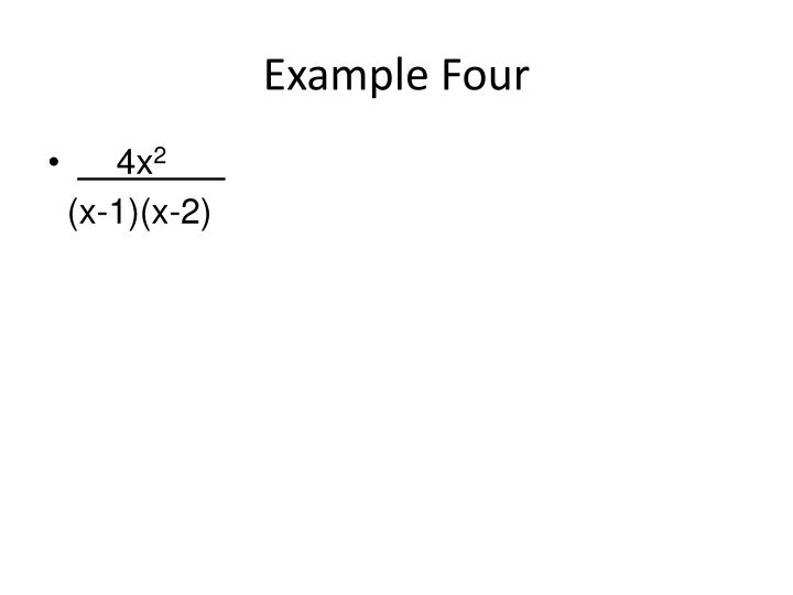 Example Four