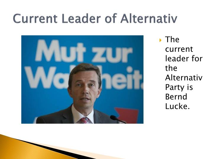 Current leader of alternativ