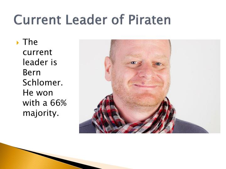 Current leader of piraten