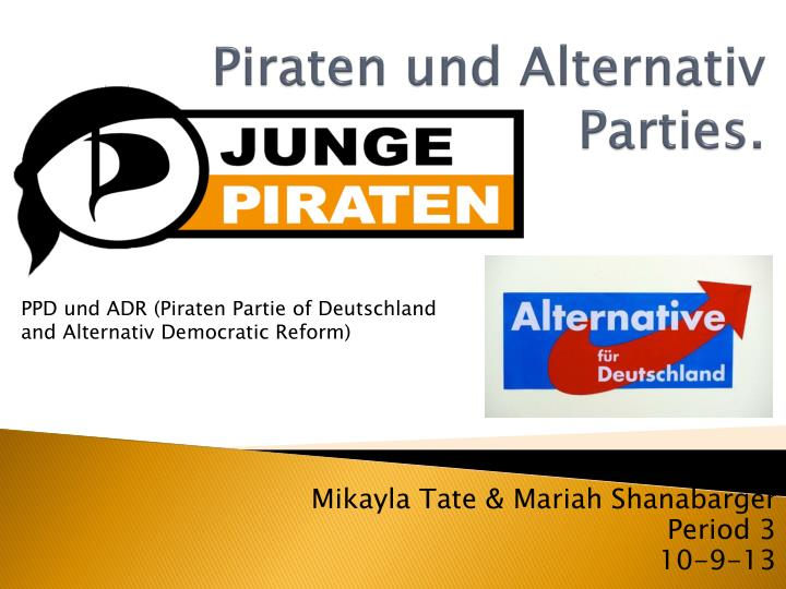 Piraten und alternativ parties
