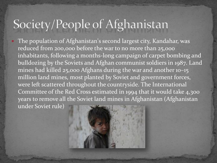 Society/People of Afghanistan