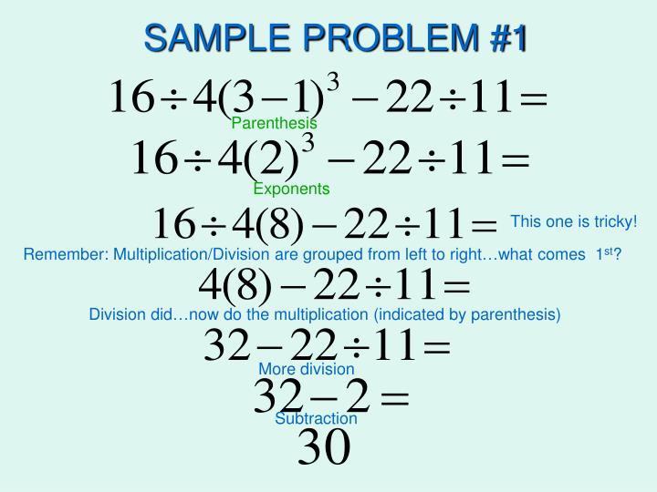 SAMPLE PROBLEM #1
