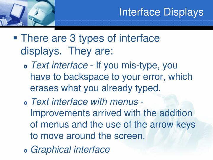 Interface Displays
