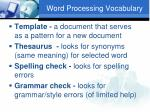 word processing vocabulary3