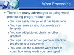 word processing1