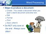 word processing2