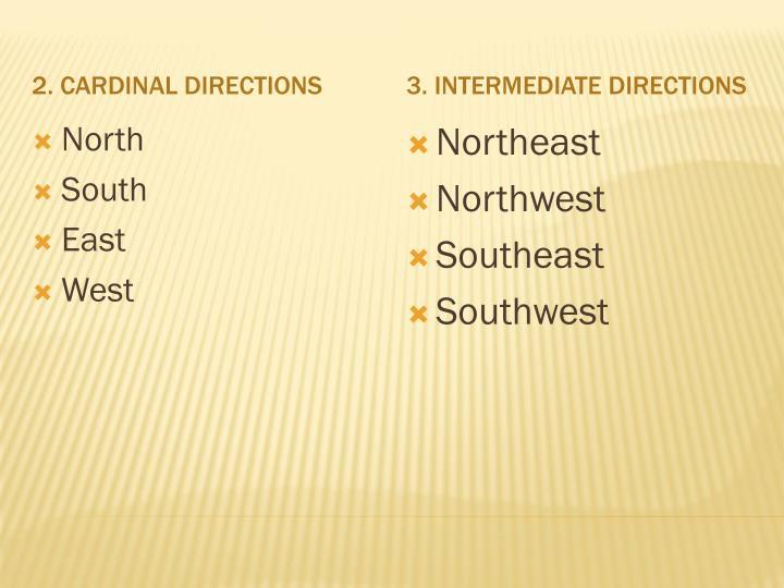 2. Cardinal Directions