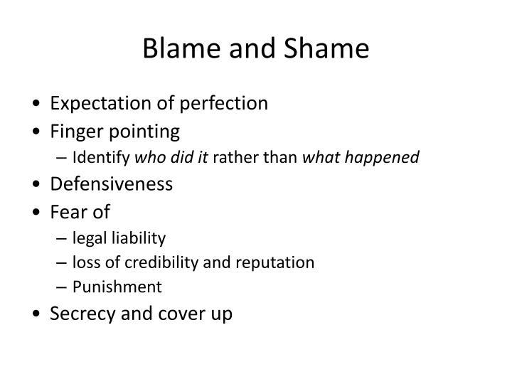 Blame and Shame