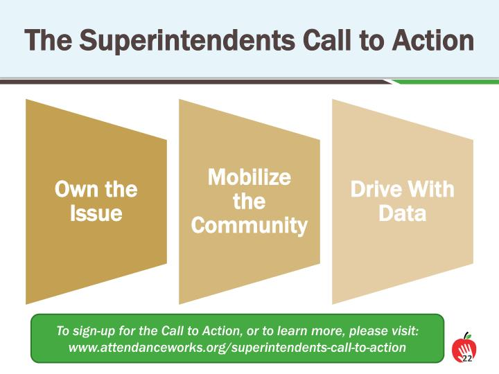 The Superintendents Call to Action
