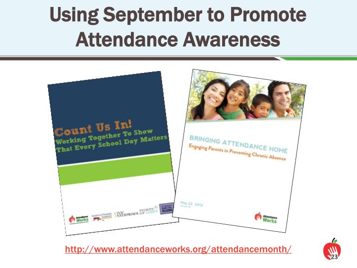 Using September to Promote Attendance Awareness