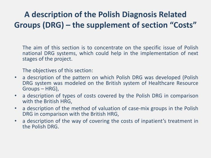 A description of the Polish Diagnosis Related Group