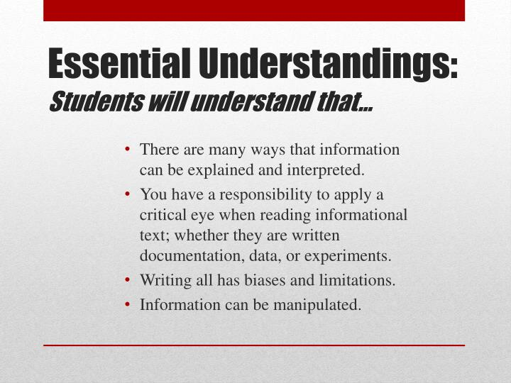 There are many ways that information can be explained and interpreted.
