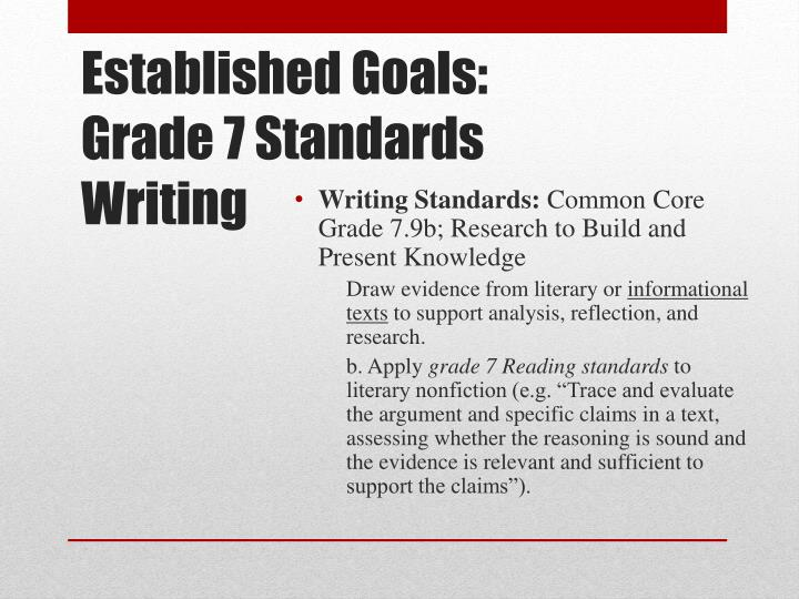 Writing Standards: