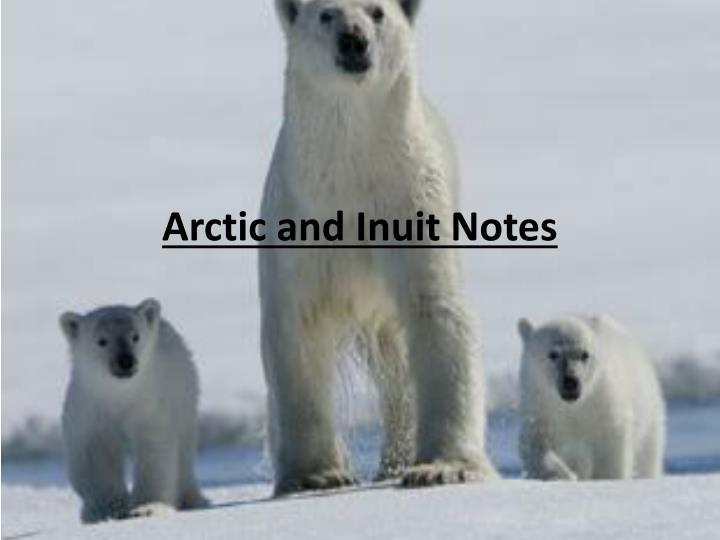 Arctic and inuit notes
