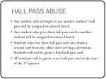 hall pass abuse