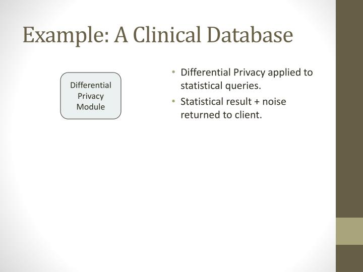 Example: A Clinical Database