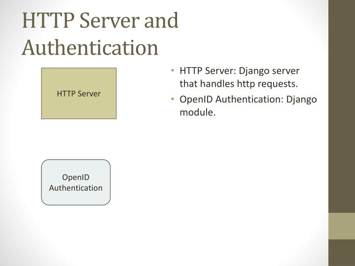 HTTP Server and Authentication