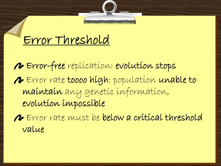 Error Threshold