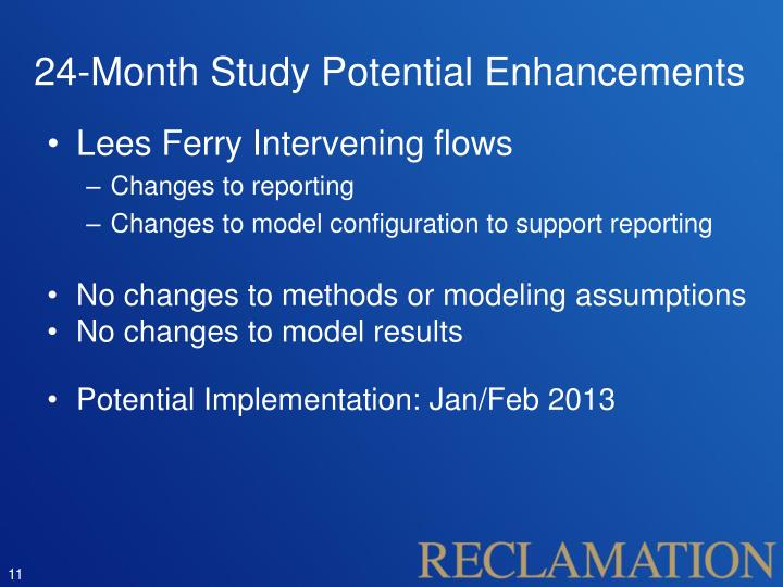 24-Month Study Potential Enhancements