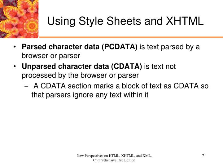 Using Style Sheets and XHTML