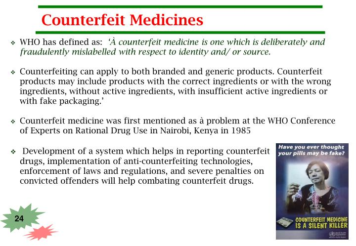 Counterfeit Medicines