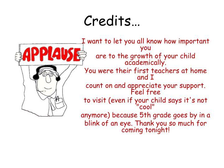 Credits…