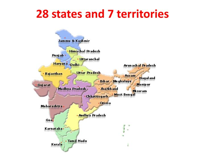 28 states and 7 territories