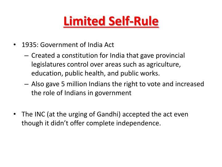 Limited Self-Rule