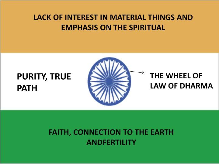 LACK OF INTEREST IN MATERIAL THINGS AND EMPHASIS ON THE SPIRITUAL