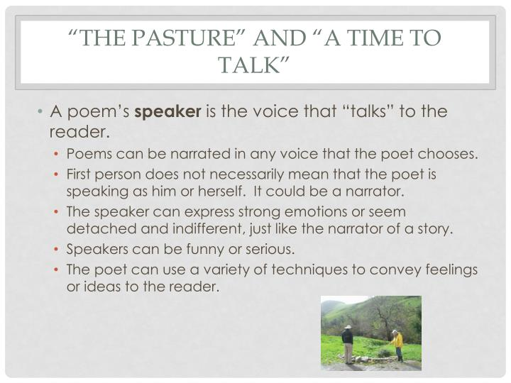 The pasture and a time to talk2