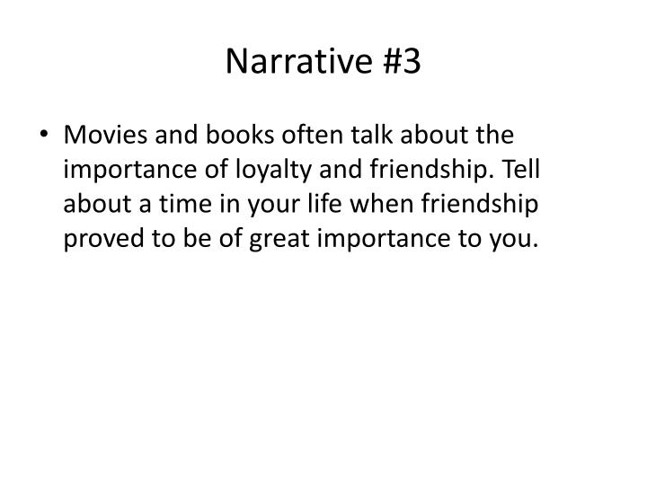 Narrative #3