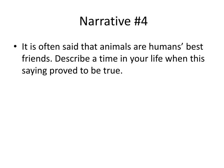 Narrative #4