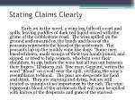 stating claims clearly