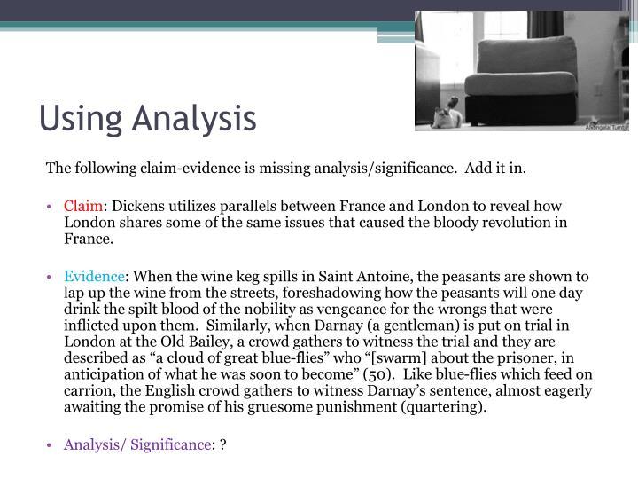 Using Analysis