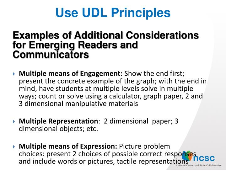 Use UDL Principles