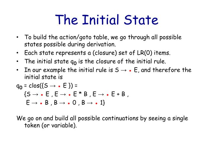 The Initial State