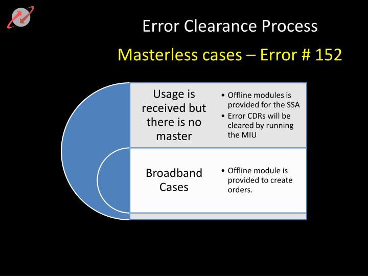 Error Clearance Process